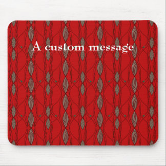 Customizable Funky Red and Beige Mouse Pad