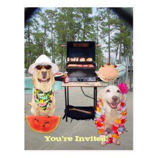 Customizable Funny BBQ Invitation Postcard
