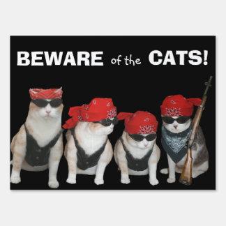 Customizable Funny Biker Cats Yard Sign