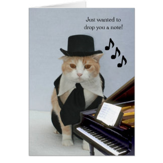 Customizable Funny Cat Stationery Note Card