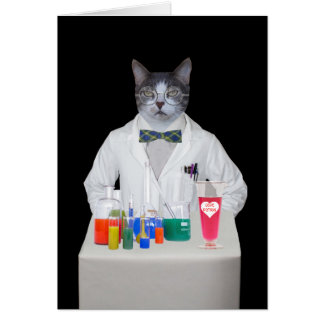 Customizable Funny Cat/Kitty DR. LOVE Card