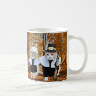 Customizable Funny Cat/Kitty Pilgrims Coffee Mug
