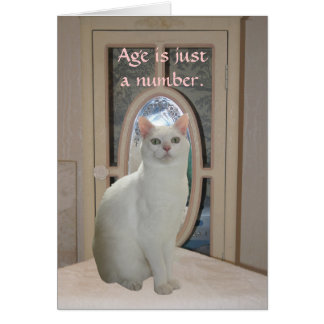 Customizable Funny Cat Looking in Mirror Card
