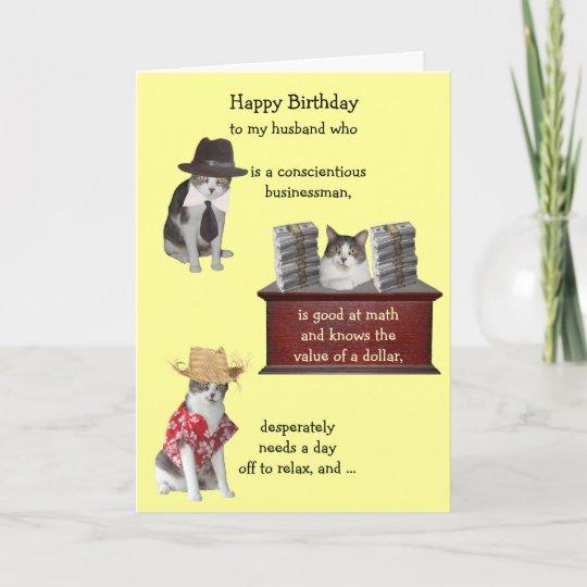 Customizable Funny Cat Male Birthday Card Zazzle