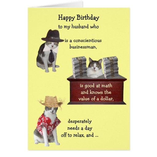 Funny Male Th Birthday Cards ~ Customizable funny cat male birthday cards zazzle