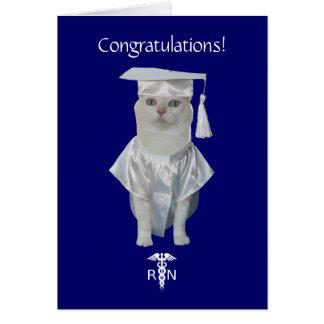 Customizable Funny Cat Nursing Graduation Card