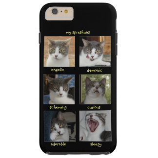 Customizable Funny Cat Selfie Expressions Tough iPhone 6 Plus Case