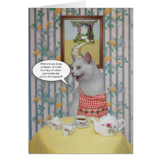 Customizable Funny Cats Back to School Card