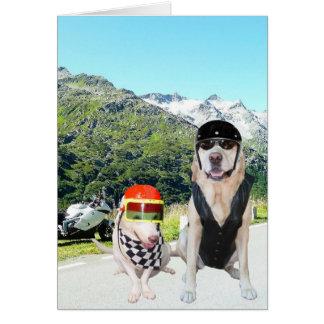 Customizable Funny Dog/Lab Biker/Motorcycle Card