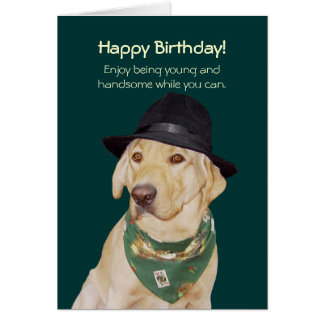 Customizable Funny Dog/Lab Card for Guy