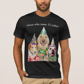 Customizable Funny Dogs Birthday Shirt