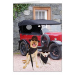Customizable Funny Dogs Classic Greeting Card