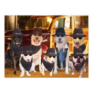 Customizable Funny Dogs/Labs Dinner & Concert Card