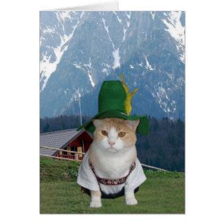 Customizable Funny German Cat Card