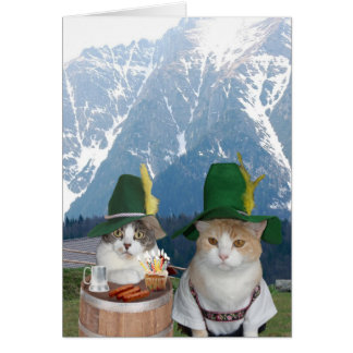 Customizable Funny German Cats/Kitties Card