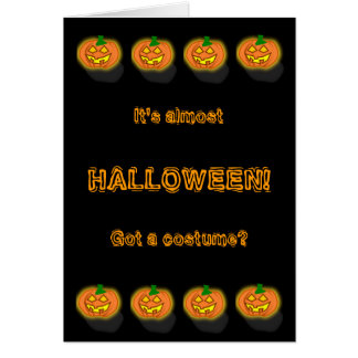 Customizable Funny Halloween Thinker Greeting Card