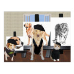 Customizable Funny Pet Art Class Postcard