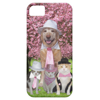 Customizable Funny Pet Pink Theme iPhone 5 Case