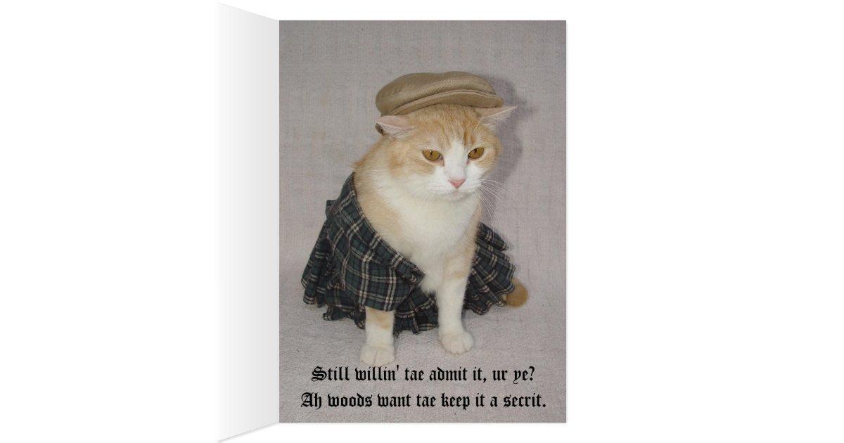 Customizable Funny Scottish Fold Scottish Birthday Card | Zazzle