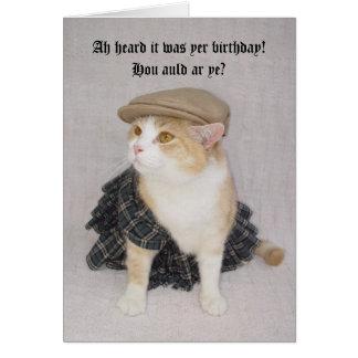 Customizable Funny Scottish Fold Scottish Birthday Greeting Card