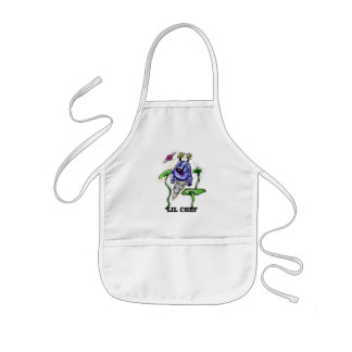 Customizable funny space cow kids' apron