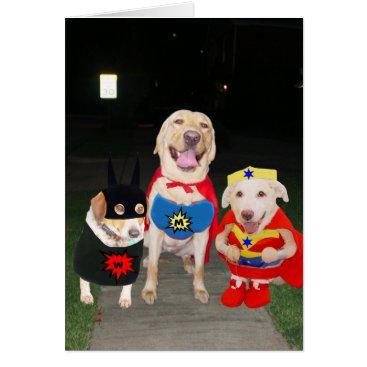 Halloween Themed Customizable Funny Super Dogs/Lab Halloween Card