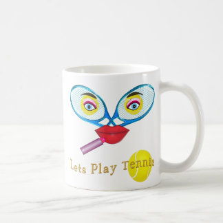 Customizable Funny Tennis Gifts for Her Mug