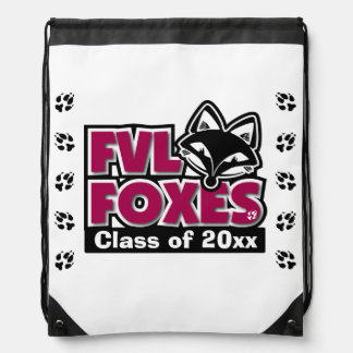 Customizable FVL Foxes Class of Drawstring Backpack