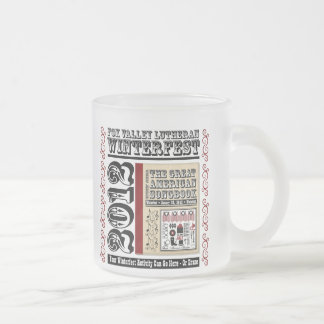 Customizable FVL Winterfest Americana 2012 Frosted Glass Coffee Mug