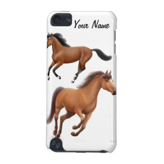 Customizable Galloping Bay Thoroughbred Horses Spe iPod Touch 5G Covers