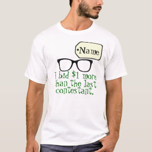 Customizable Game Show Contestant T-Shirt