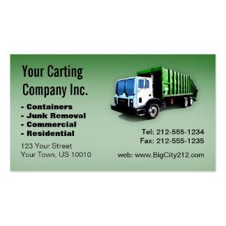 CUSTOMIZABLE Garbage Truck Carting Company Tarjetas De Visita