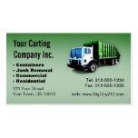 CUSTOMIZABLE Garbage Truck Carting Company Plantilla De Tarjeta De Visita