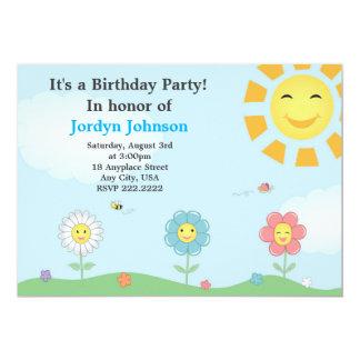 Customizable Garden Birthday Party Invitation