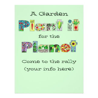 customizable garden flyer. plant it for the planet