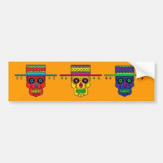 Customizable Gaucho Sugar Skull Bumper Stickers