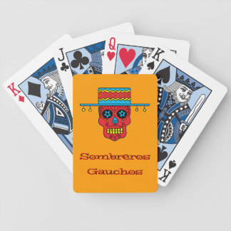 Customizable Gaucho Sugar Skull Deck Of Cards
