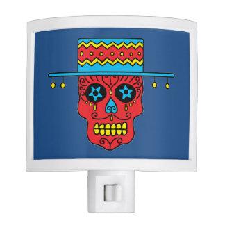 Customizable Gaucho Sugar Skull Night Light