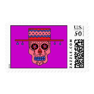 Customizable Gaucho Sugar Skull Postage