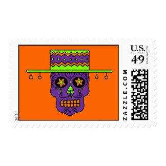 Customizable Gaucho Sugar Skull Stamp
