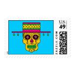 Customizable Gaucho Sugar Skull Postage Stamps