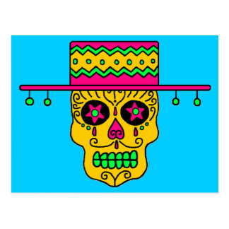 Customizable Gaucho Sugar Skull Postcard