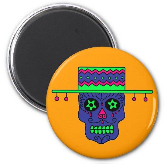 Customizable Gaucho Sugar Skulls Magnet