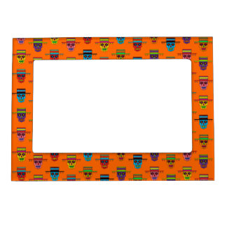 Customizable Gaucho Sugar Skulls Magnetic Picture Frame