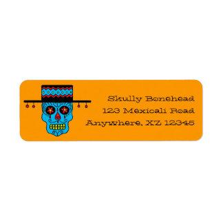 Customizable Gaucho Sugar Skulls Return Address Label