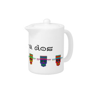 Customizable Gaucho Sugar Skulls Teapot