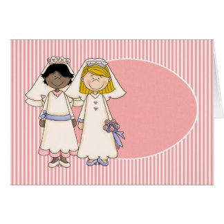 Customizable Gay Female Wedding Card