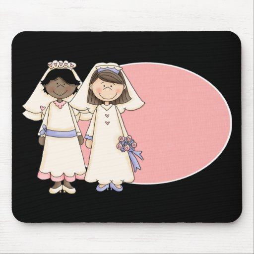 Customizable Gay Female Wedding Gifts and Tees Mouse Pad