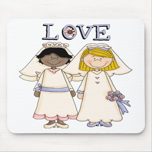 Customizable Gay Female Wedding Tees, Gifts Mouse Pads