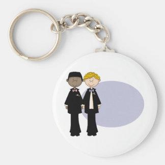Customizable Gay Male Wedding (3) Basic Round Button Keychain